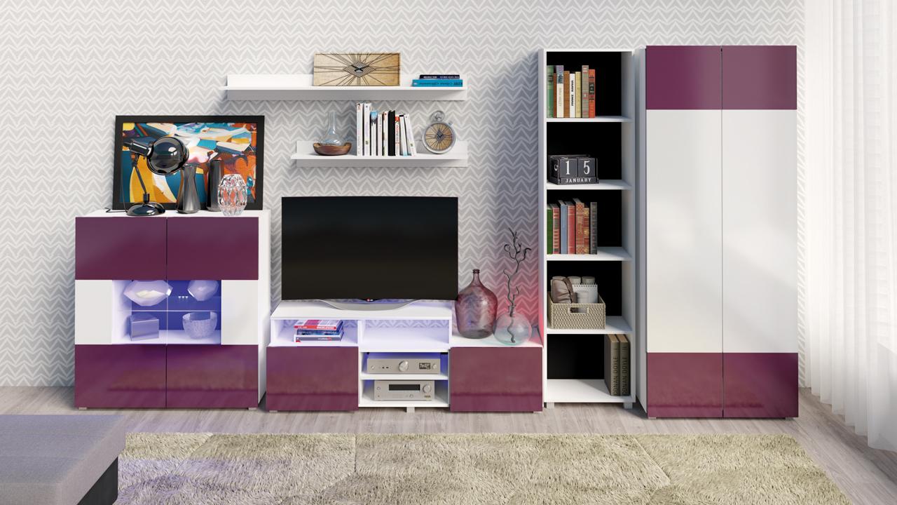 1dd2b9ad8b36 Moderné obývacie steny   Trendy obývacia stena GORDIA zostava 1 ...