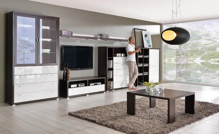 dfd93a29f7c6 Obývacie izby a sektorový nábytok   Štýlová obývacia stena KENDO ...