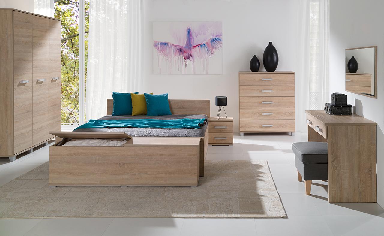 5ee9c334e4e7 Spálne (zostavy a sektový nábytok)   Moderná a lacná spálňa MAXIMUS ...