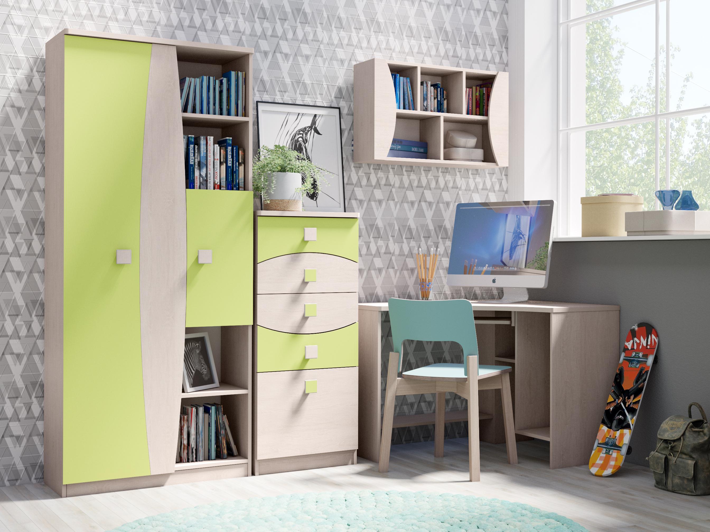 1422540b0ea4 Detské steny s písacím stolom   Trendy detská izba TENUS Zostava 17