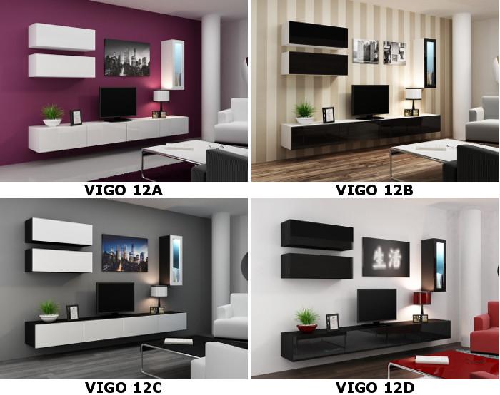 9460bf83fecb Moderné obývacie steny   Moderný nábytok VIGO 12 do obývacej izby